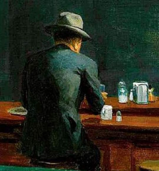 Nighthawks (detail)  -  Edward  Hopper 1942,   American 1882-1967  oil on canvas, 84.1 x 152.4 cm