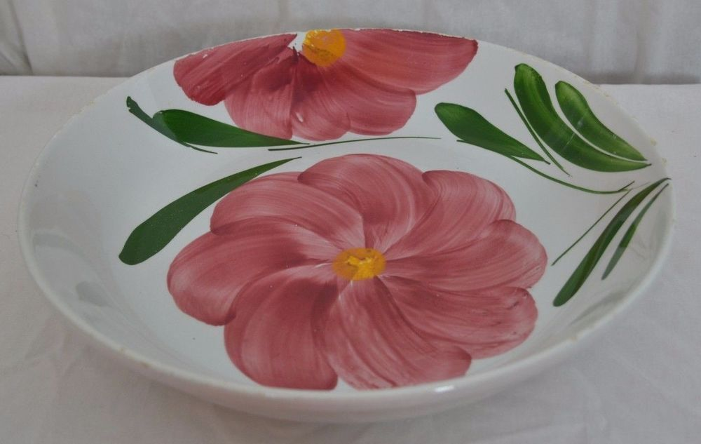 "ITAL CERAMICA dipinti a mano stoviglierie Serving Bowl w/Flowers 13+""Round, 2.5T #ItalCeramica"