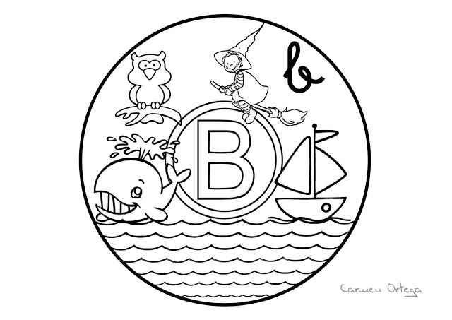 Mandalas del abecedario para colorear: Letra B | Lectura y escritura ...