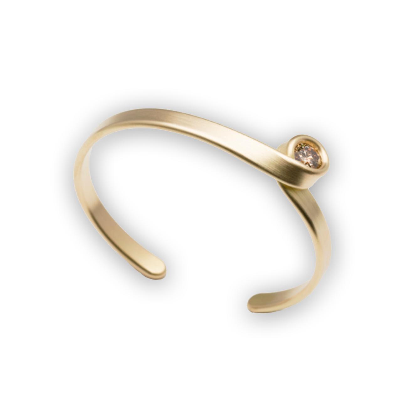 Leen Heyne - Gold & Diamond Loop Cuff Bracelet - ORRO Contemporary Jewellery Glasgow