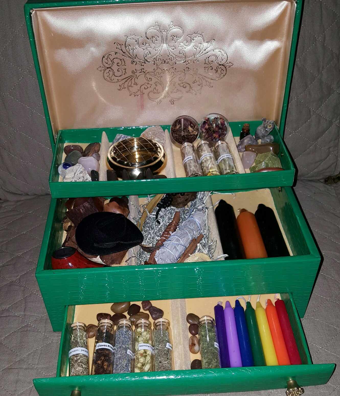Chakra and prosperity spiritual boxes by taalibah pinterest