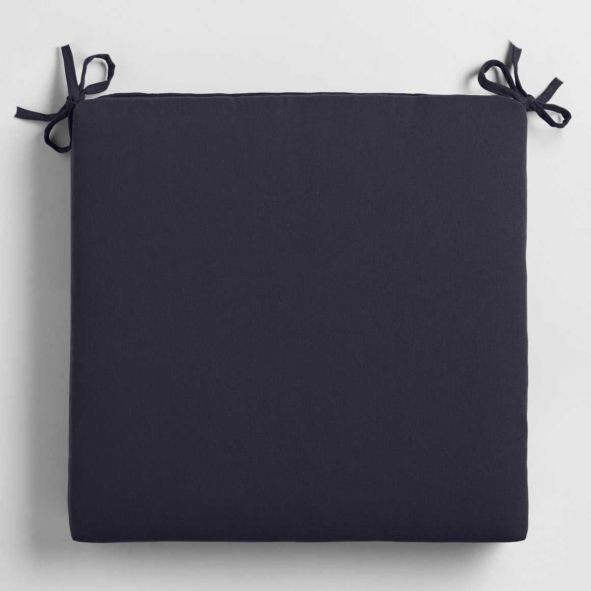 Navy Blue Outdoor Patio Chair Cushion Polyester By World By