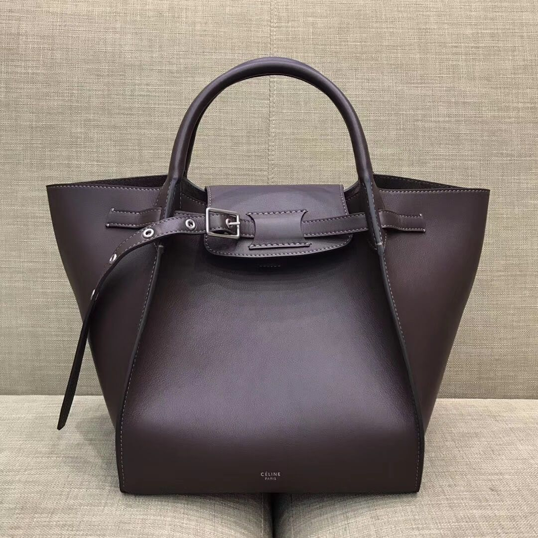 c283281264e0 Celine Small Big Bag With Long Strap in Smooth Calfskin Dark Burgundy 2018