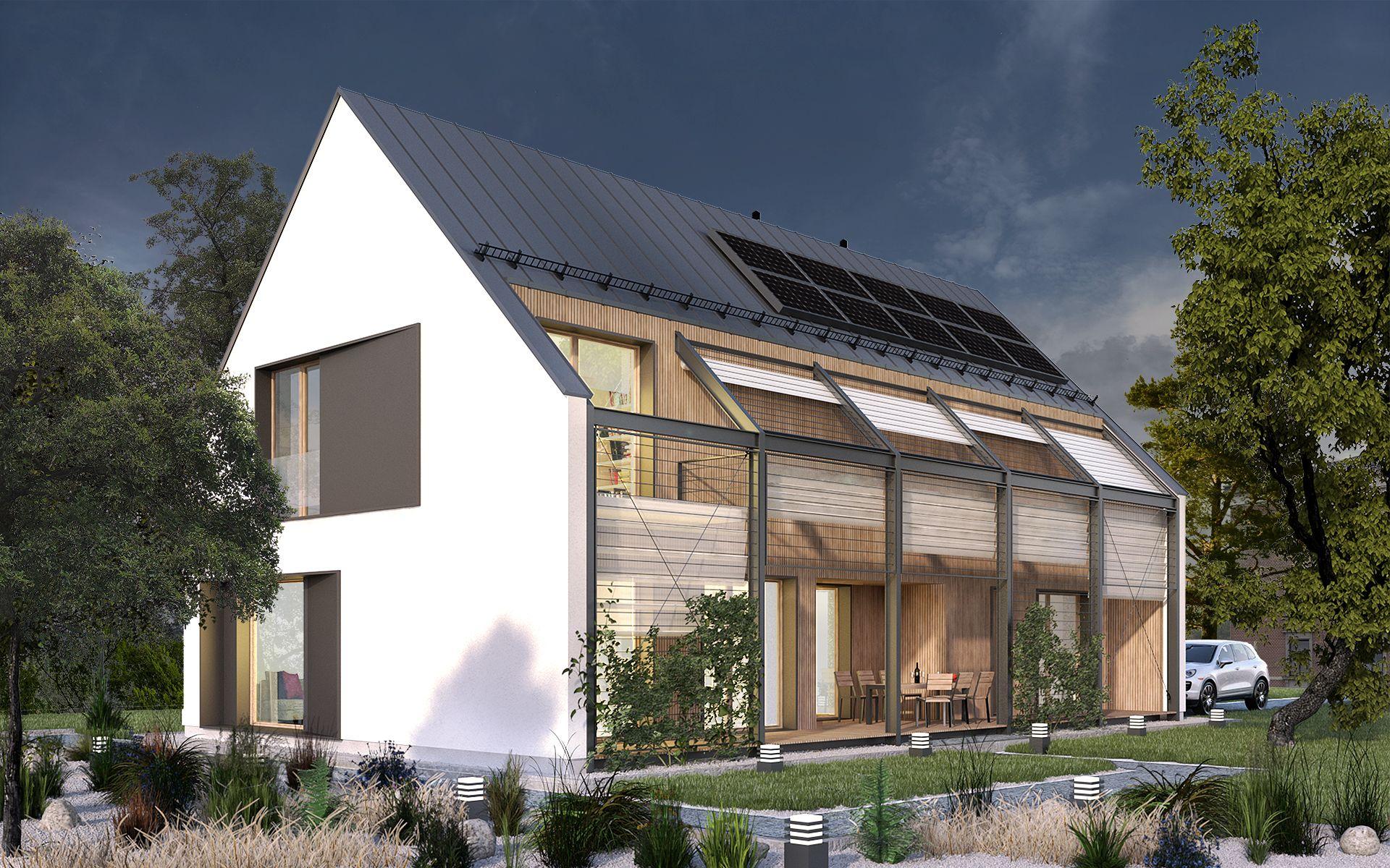 Modern house dom nowoczesny dom projekt domato projekt domu