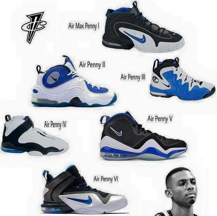 buy online 28a1e 865eb Penny Hardaway 90s Nike Shoes, Nike Basketball Shoes, Sneakers Nike, Shoes  Sneakers,