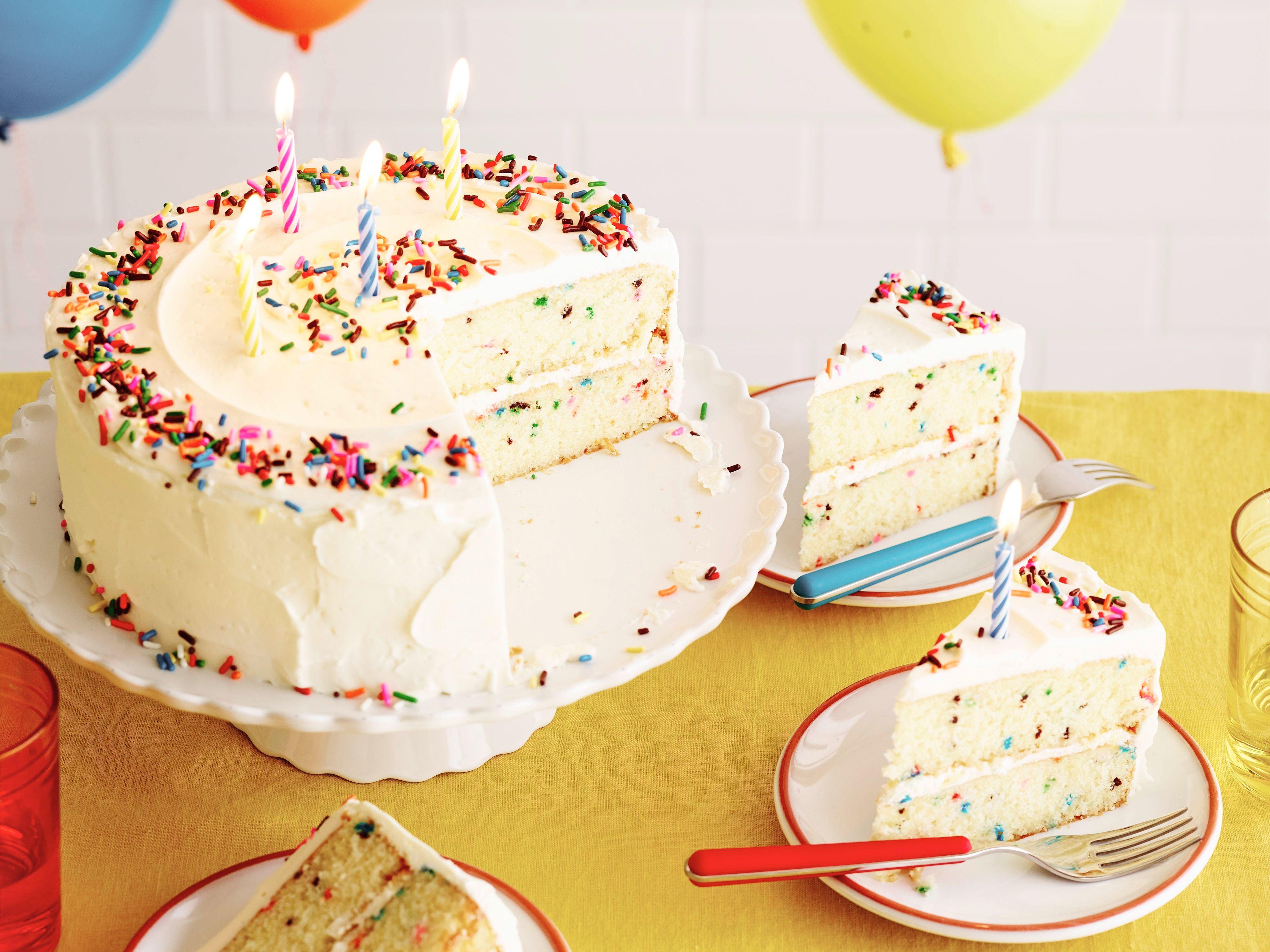 Fluffy Confetti Birthday Cake   Recipe   Confetti, Birthday cakes ...