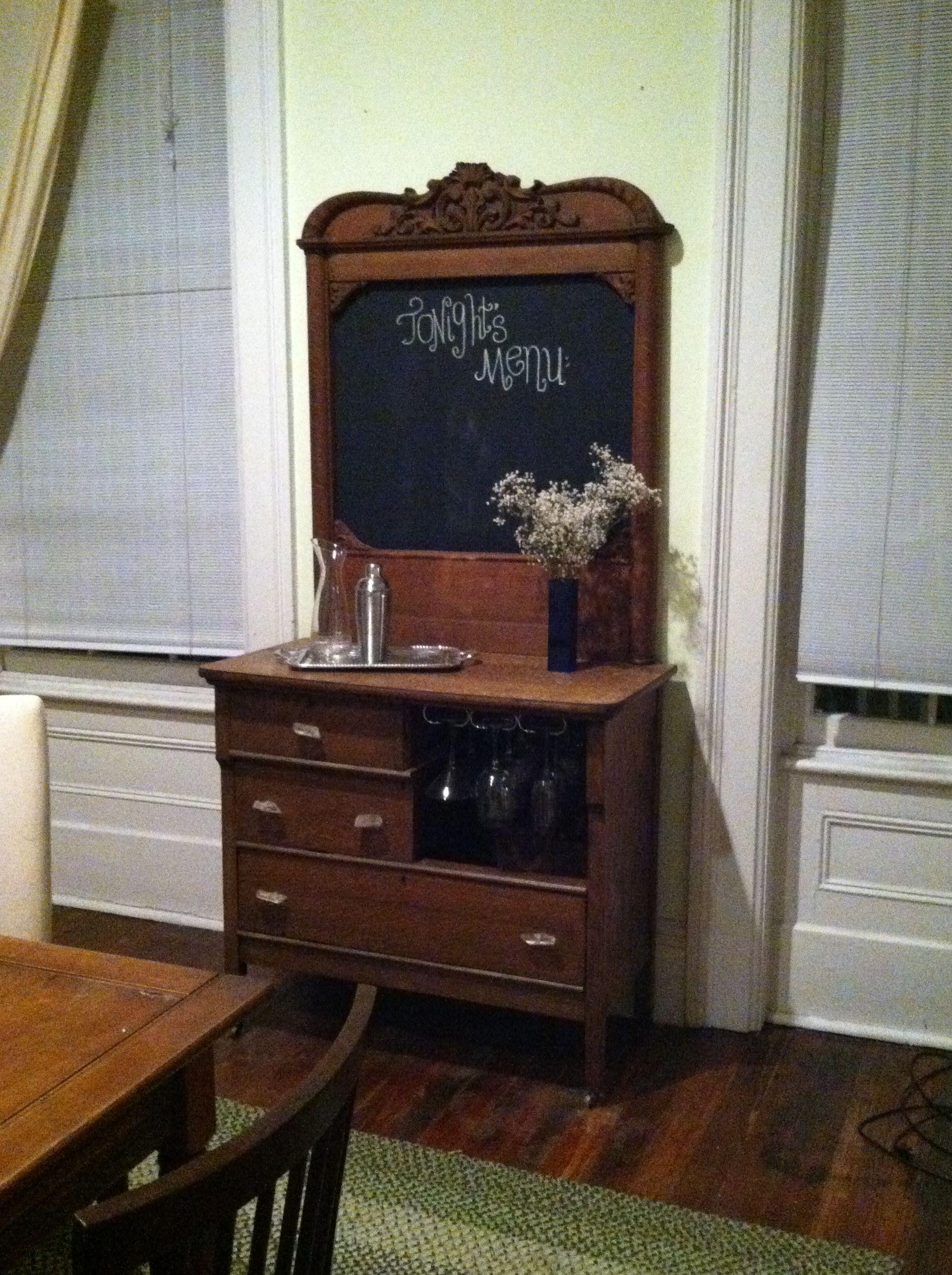 Antique Dresser Repurposed Into A Bar Antique