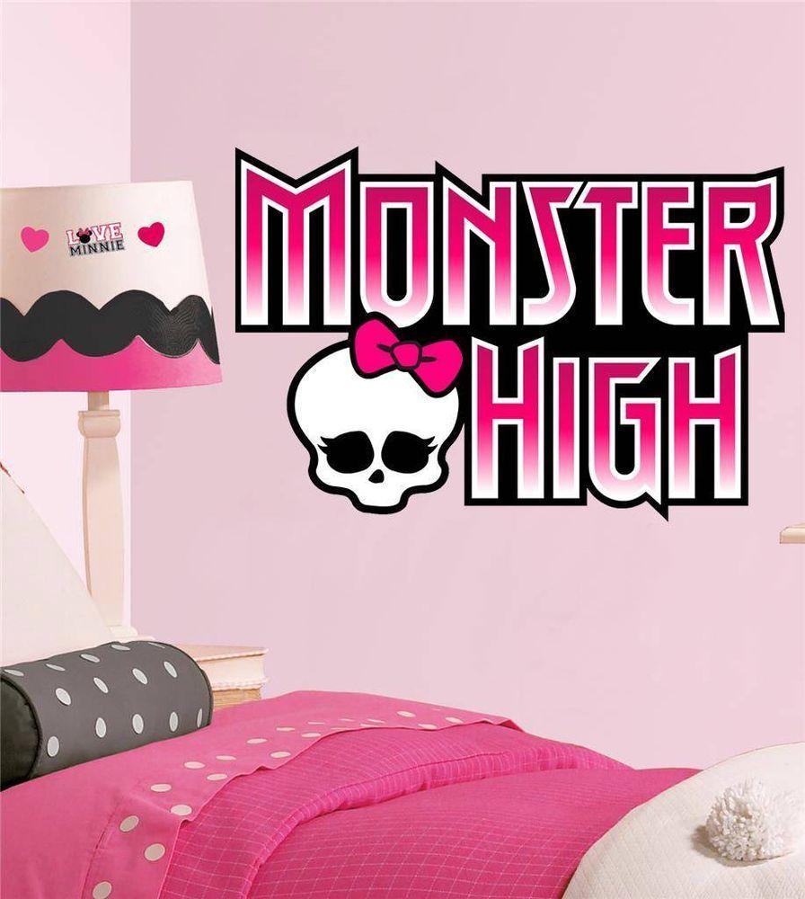 Monster High Logo Decal Removable Wall Sticker Home Decor Art Kids