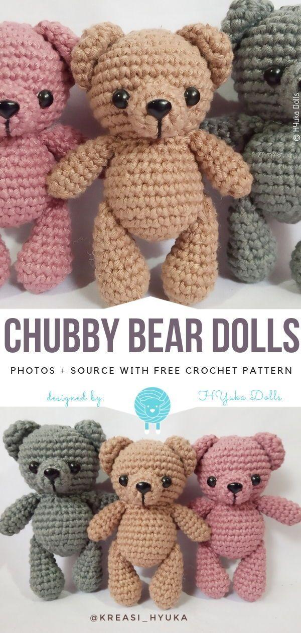 Cute Amigurumi Bears Free Crochet Patterns