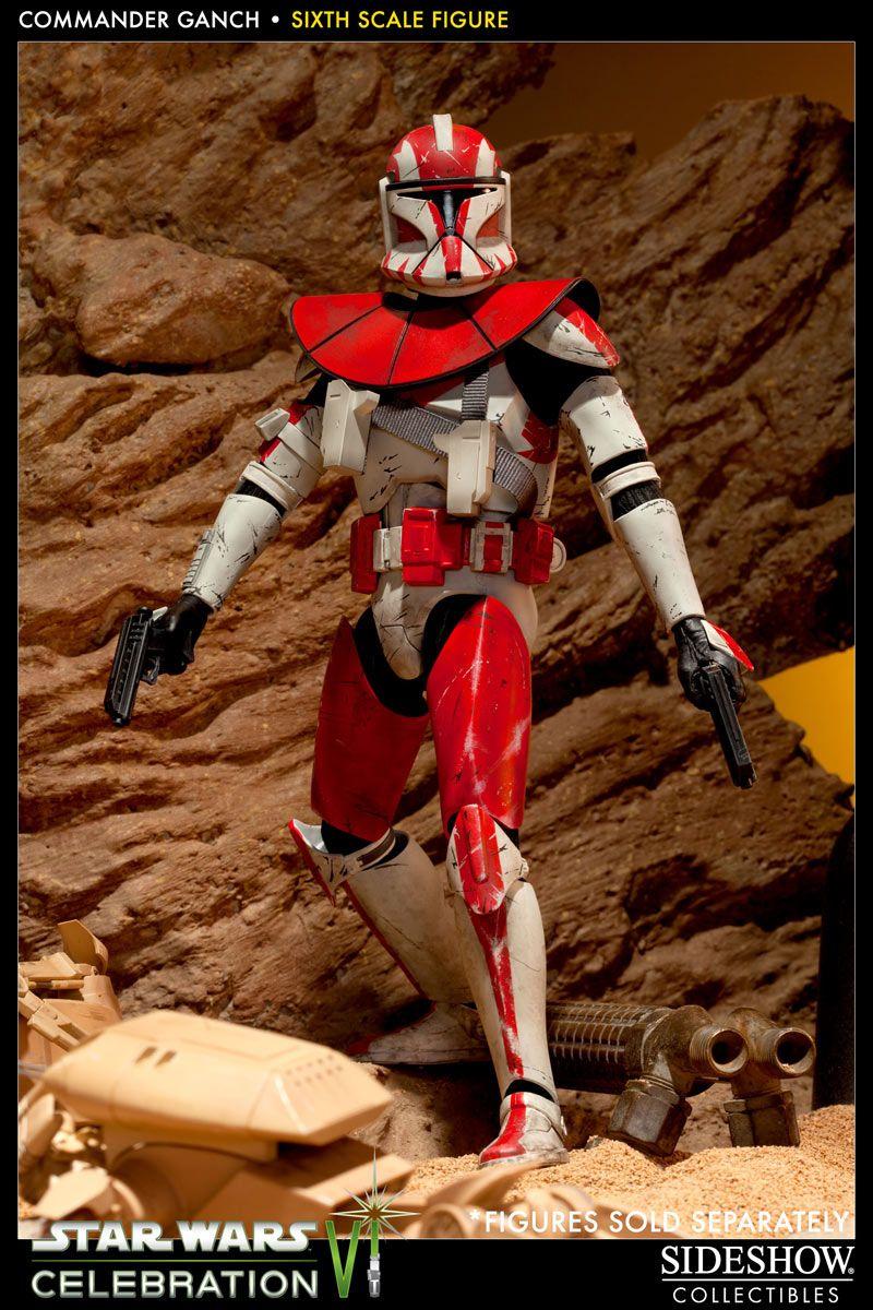 Figura Star Wars. Commander Clone Ganch, Celebration Exclusive 30cm, Sideshow