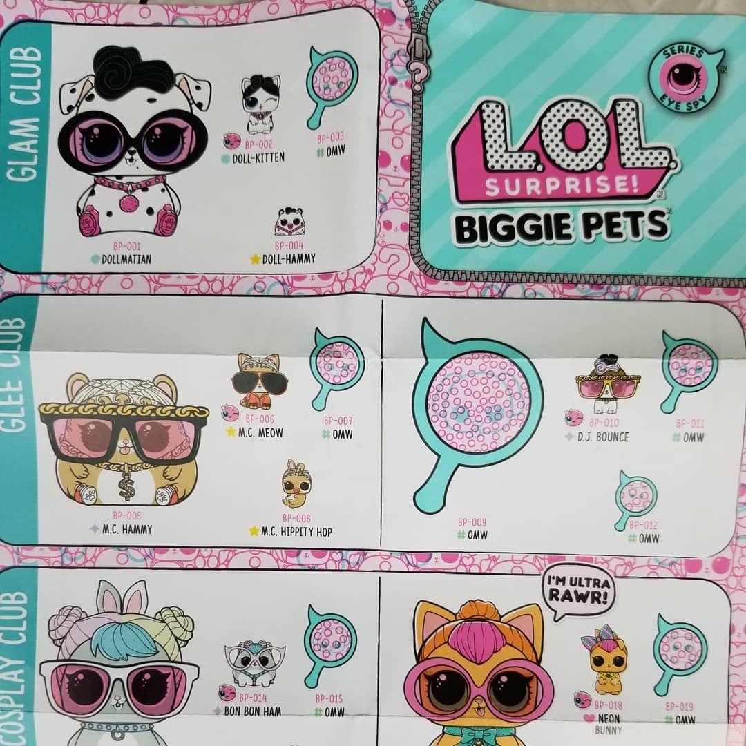 Lol Surprise Biggie Pets Checklist So Many More To Come Looks Like