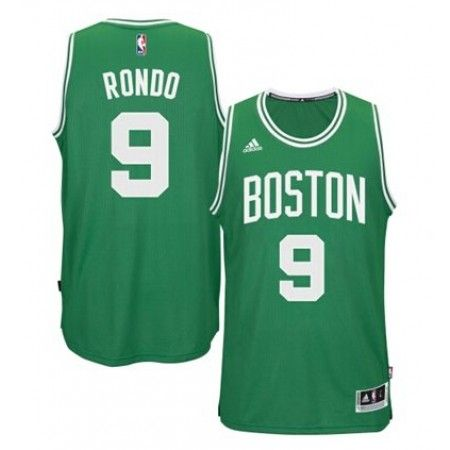 Mens Boston Celtics Rajon Rondo Number 9 Jersey Green  http   www.supernbajerseys 065015978