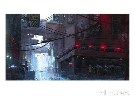 Japan Rain Julisteet tekijänä Stephane Belin AllPosters.fi-sivustossa