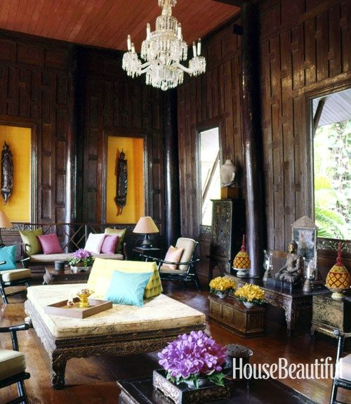 House Beautiful · Iconic Fabric Designer Jim Thompsonu0027s Living Room In  Bangkok, Thailand. Interior Style Inspiration.