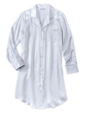The quintessential silk nightshirt, redesigned with her in mind. #nightshirt #silk #wintersilks