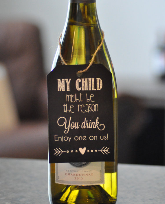 Personalised Wine Champagne Label Maybe Reason You Drink Children Gift Thank You