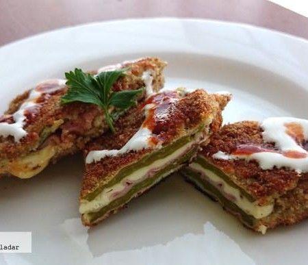 Nopales rellenos de jamn y queso Receta  Mexican Food