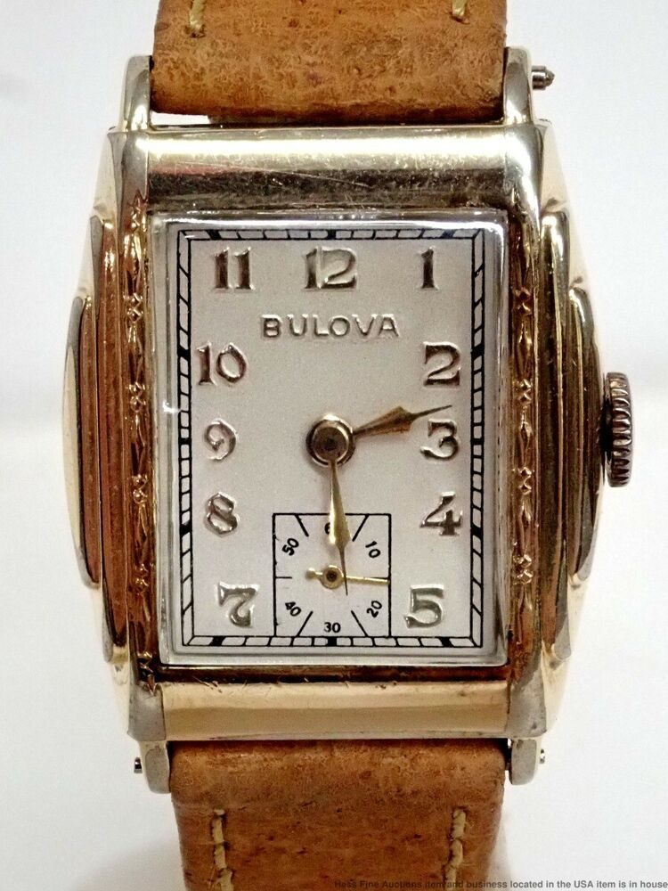 Art deco 1930s vintage bulova manual mens watch 15j 10an