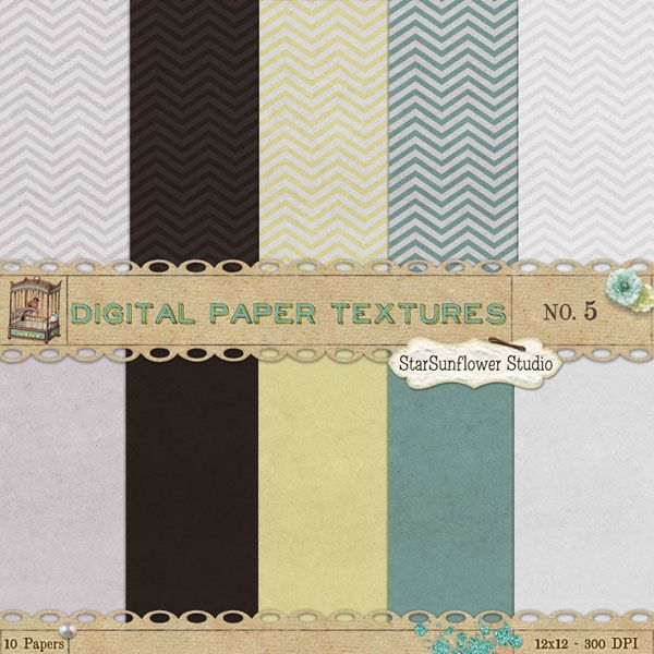 Free Patterns - Doodle Chevron, Floral and Striped