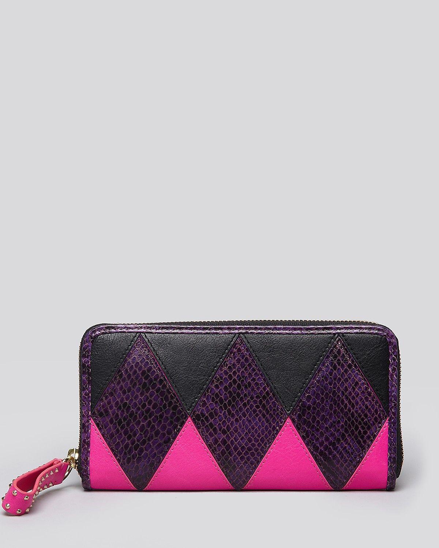 Juicy Couture Zip Wallet - Harlequin | Bloomingdale's