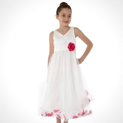 8045f521905 Tigerlily Girl s ivory floating petal dress- at Debenhams.com ...