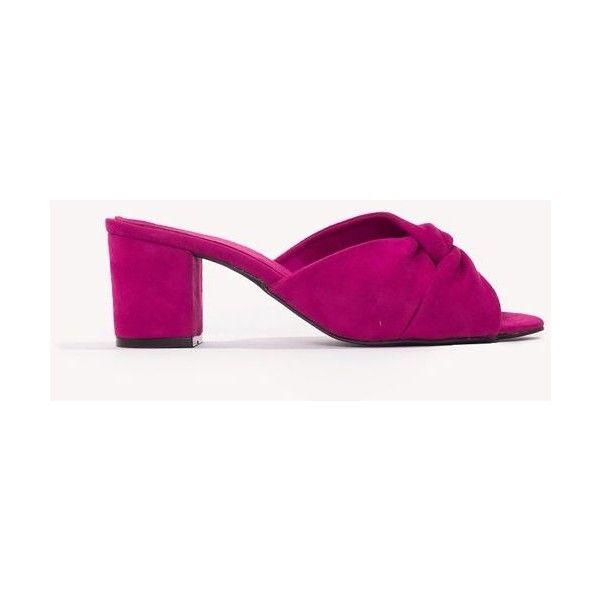 NA-KD Shoes Velvet Knot Mule Heels - Brown,Gold