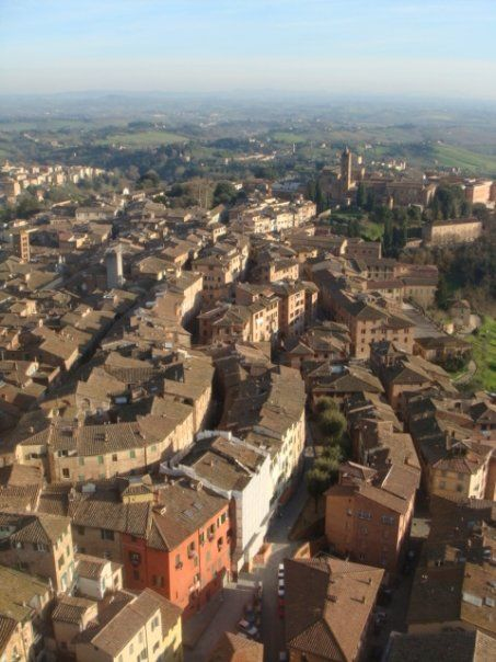 A view of Siena, Italy from the top of Torre del Mangia