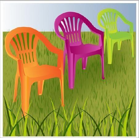 Comment peindre des chaises de jardin en plastique Green garden - peindre sur peinture laquee