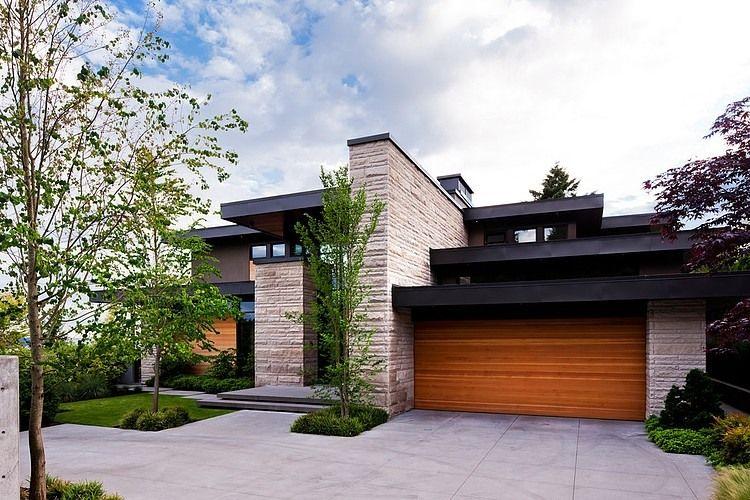 Casa moderna en vancouver grandes espacios luz natural - Tejados de casas modernas ...