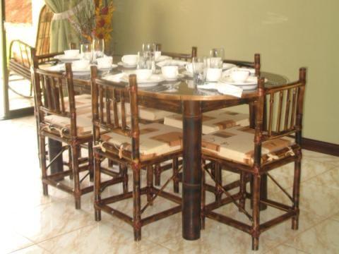 muebles de bamb para comedor sillas para desayunador y bar