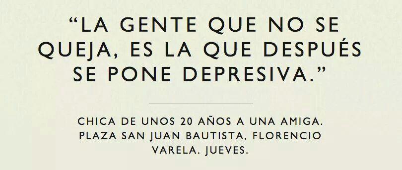 No quiero ser depresiva...