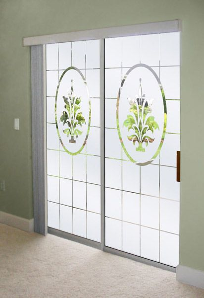 Decorate Sliding Glass Doors With Frosted Glass Designs