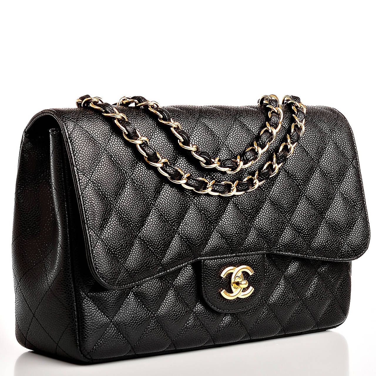 9adc85e8343d Chanel Handtasche Flap Bag | Chanel Blue Quilted Caviar Jumbo ...