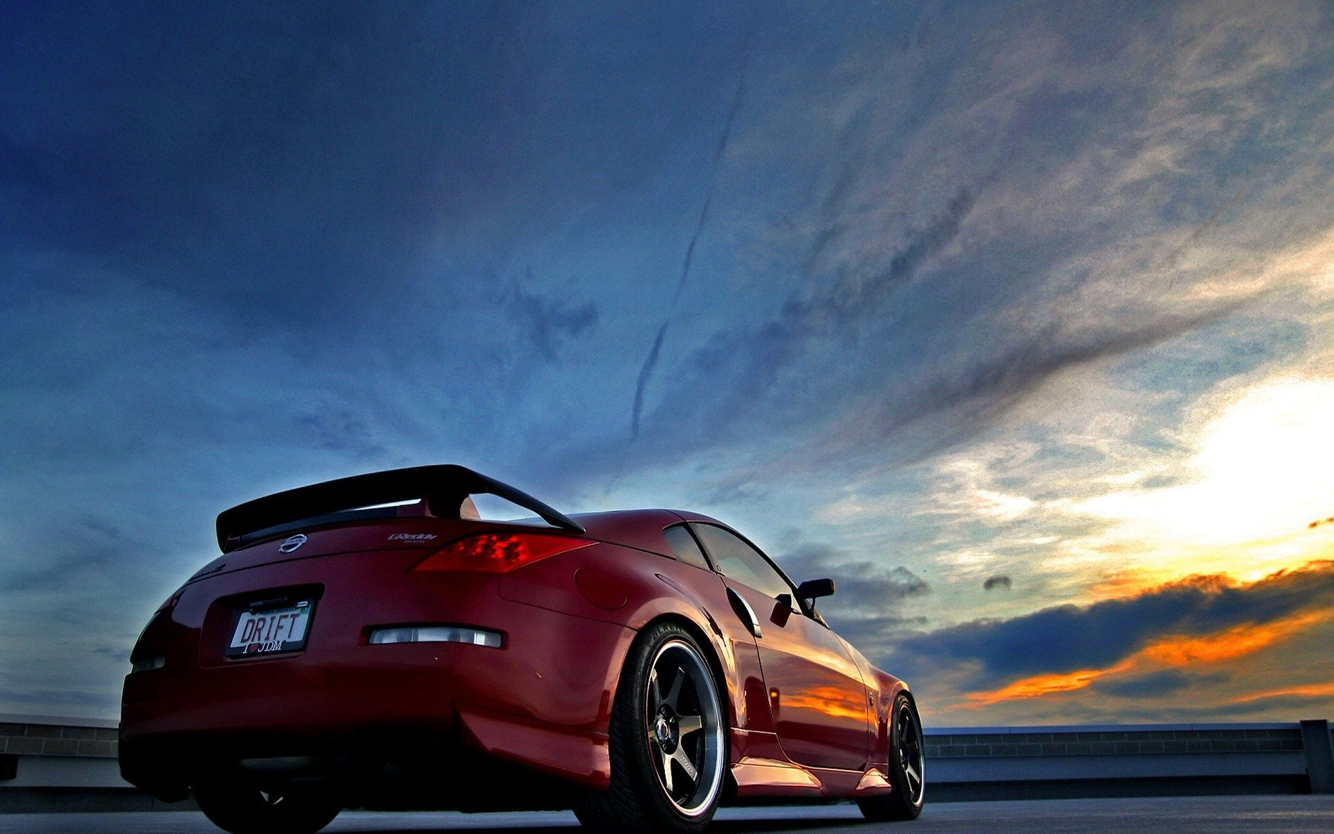 Jdm nissan 350 z wallpaper with drift license plates for