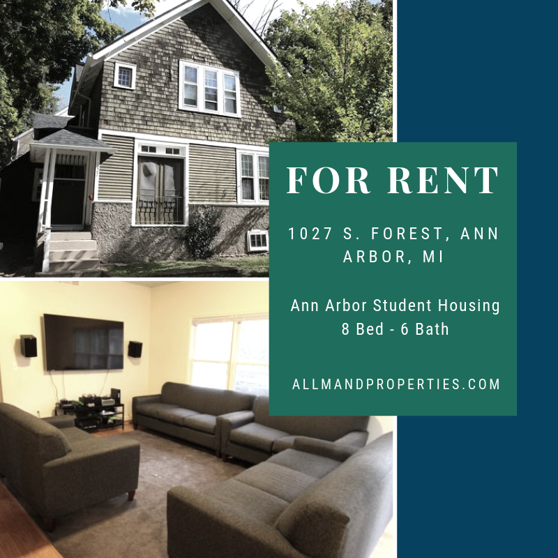 Ann Arbor Apartment Properties: 1027 S Forest Ave, Ann Arbor, MI