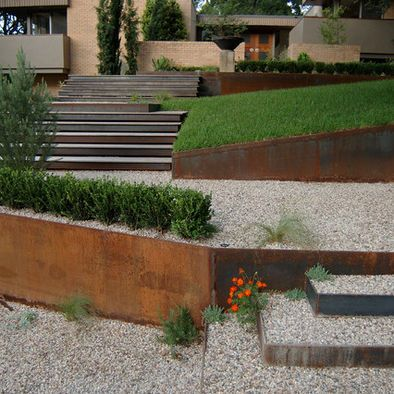 Modern edging Landscape Retaining Walls Design, Pictures, Remodel, Decor and Ideas