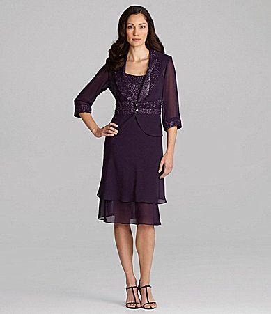 Le Bos Woman Glittered 2Piece Jacket Dress #Dillards | Wedding ideas ...