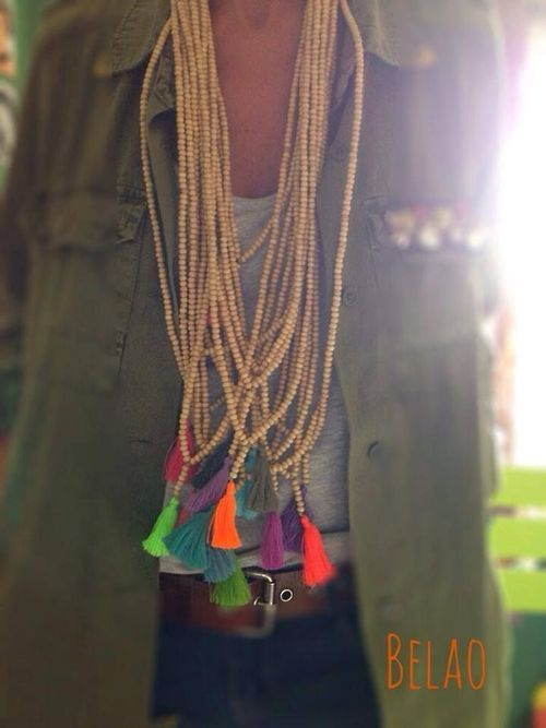 cute necklace, easy to make.