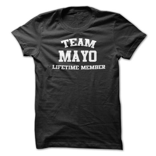 TEAM NAME MAYO LIFETIME MEMBER Personalized Name T-Shir - #shirt design #girl tee. OBTAIN LOWEST PRICE => https://www.sunfrog.com/Funny/TEAM-NAME-MAYO-LIFETIME-MEMBER-Personalized-Name-T-Shirt.html?68278