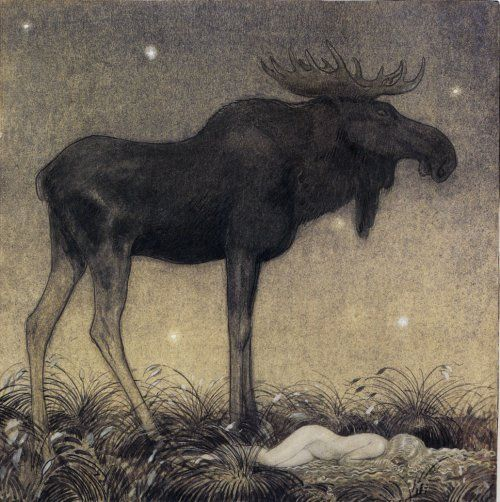 John Bauer, Leap the Elk and the Little Princess Cottongrass