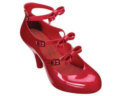 Vivienne Westwood Anglomania + Melissa Three Straps Elevated IV (Vermelho / Vermelho)