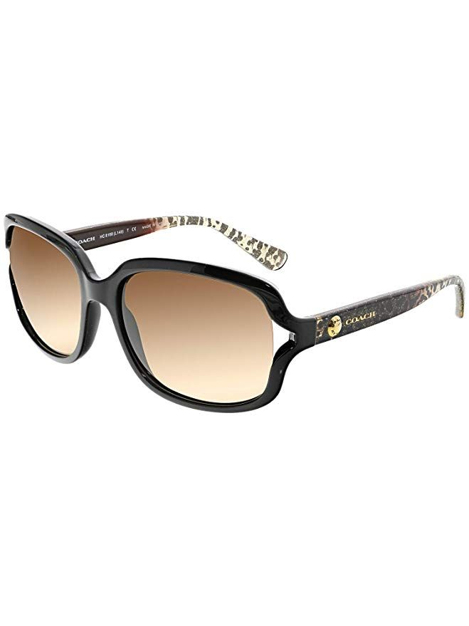 Amazon.com: Coach Womens L149 Sunglasses (HC8169) Black