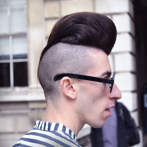 Short Back And Sides Combines With A Quiff For A Contrasting Style Hji Hair With Flair Cool Hairstyles Mens Hairstyles