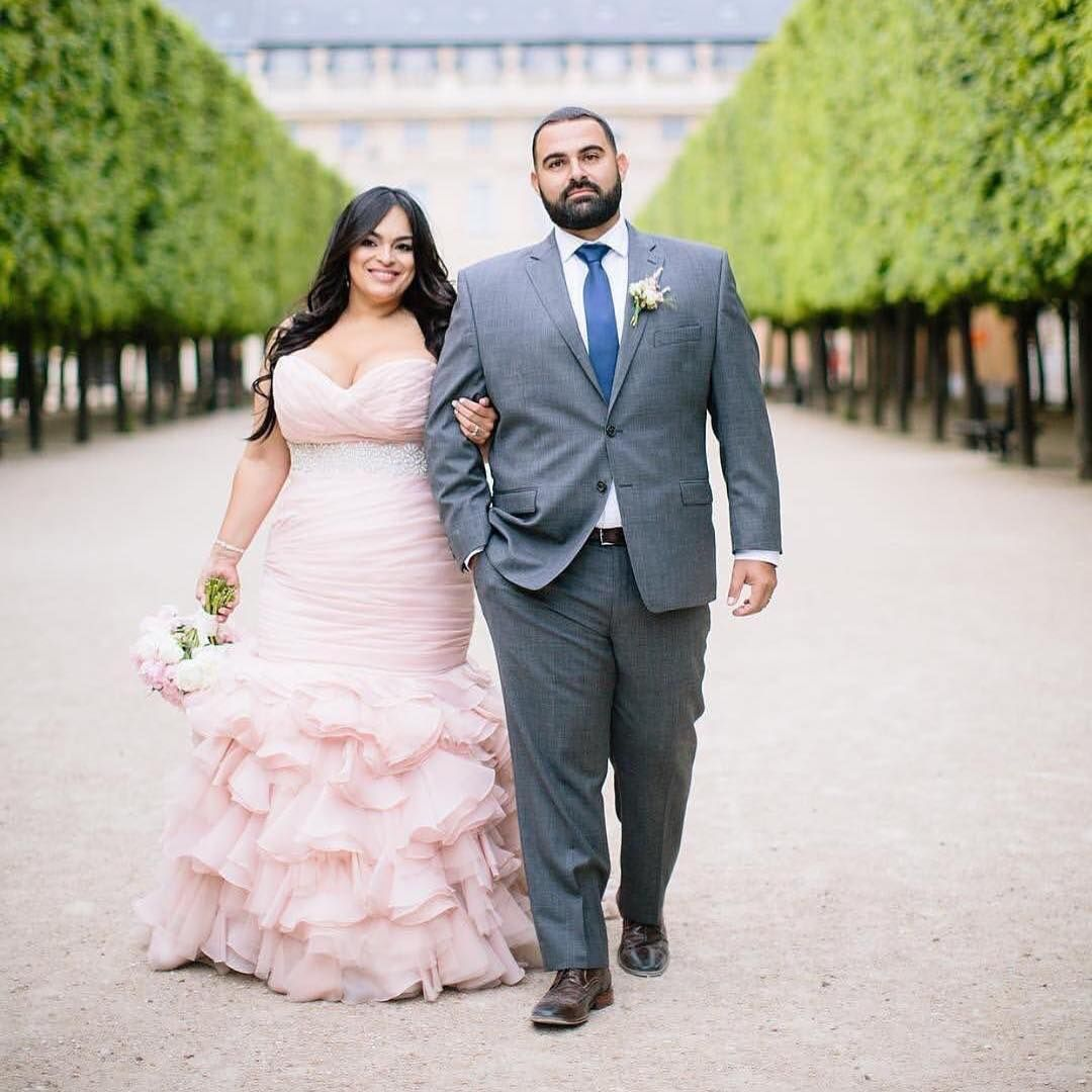 Plus Size Brides Can Have Custom Wedding Gowns And Replicas For Less Non White Wedding Dresses Size 18 Wedding Dress Wedding Dresses Beaded