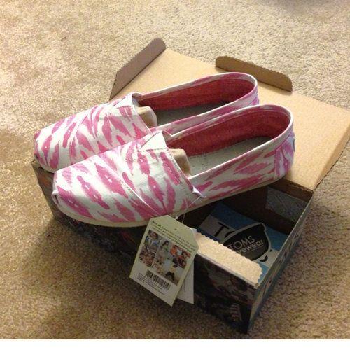 TOMS Pink Ikat Flats
