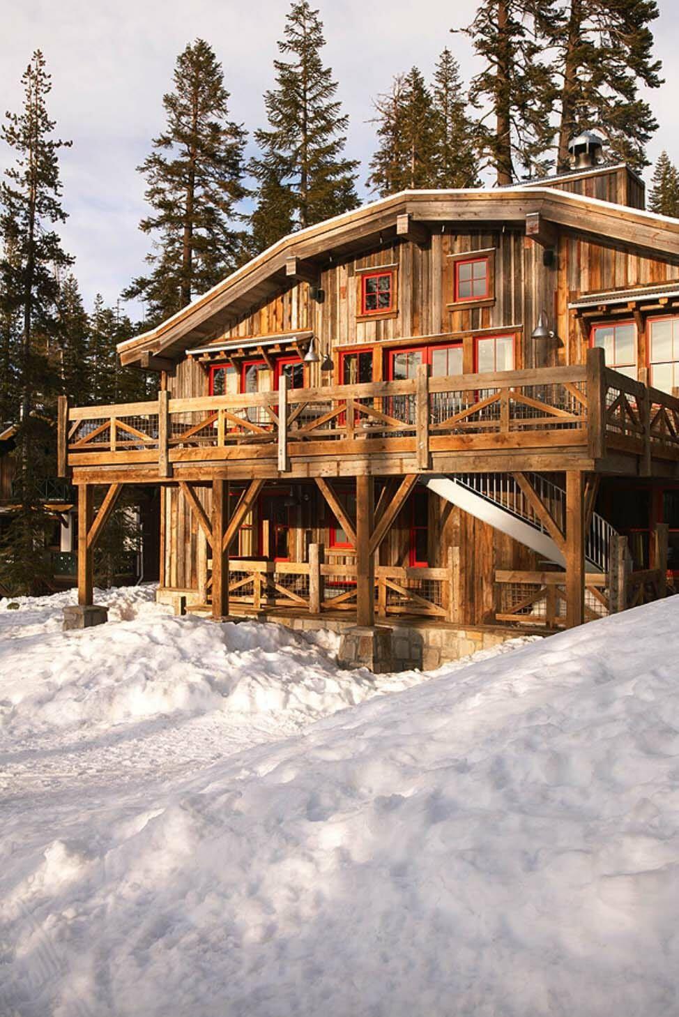Wohndesign innenraum wintertraumhütte im dorf sugar bowl ski barn sugar