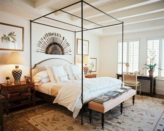 Himmelbett mit dünnen Metallrahmen Baumwolle Teppich Schlafzimmer