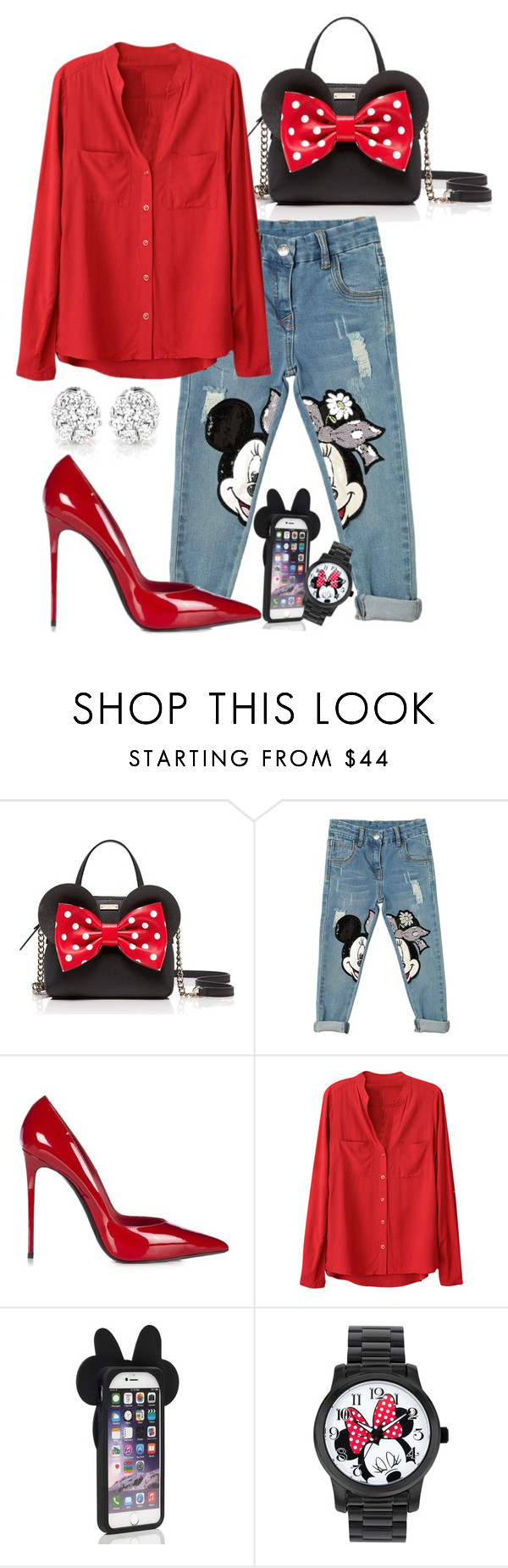 """""""Classic Toon Love"""" by perichaze ❤ liked on Polyvore featuring Kate Spade, Monnalisa, Le Silla and Disney"""