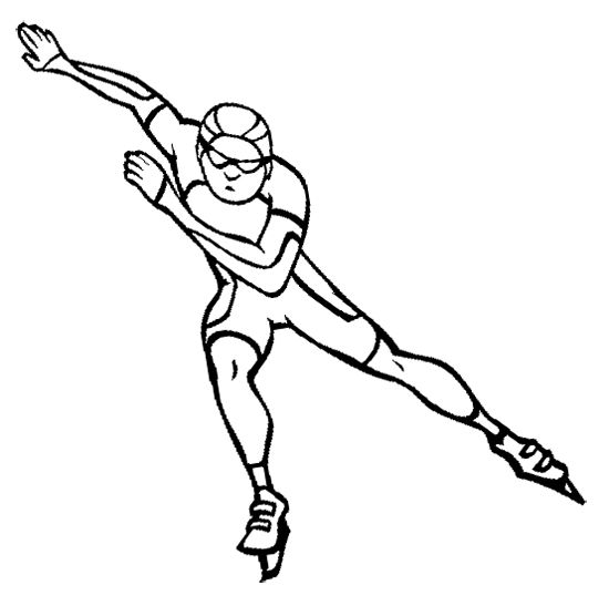 Speed Ice Skating Coloring Page Perfect For Winter Olympics