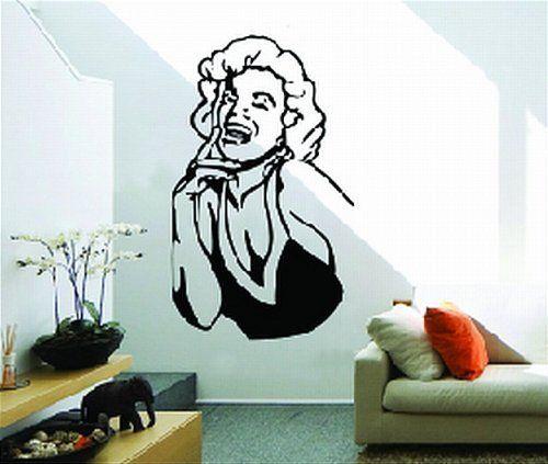 Marilyn Monroe Wall Decals: Marilyn Monroe Black and White ...